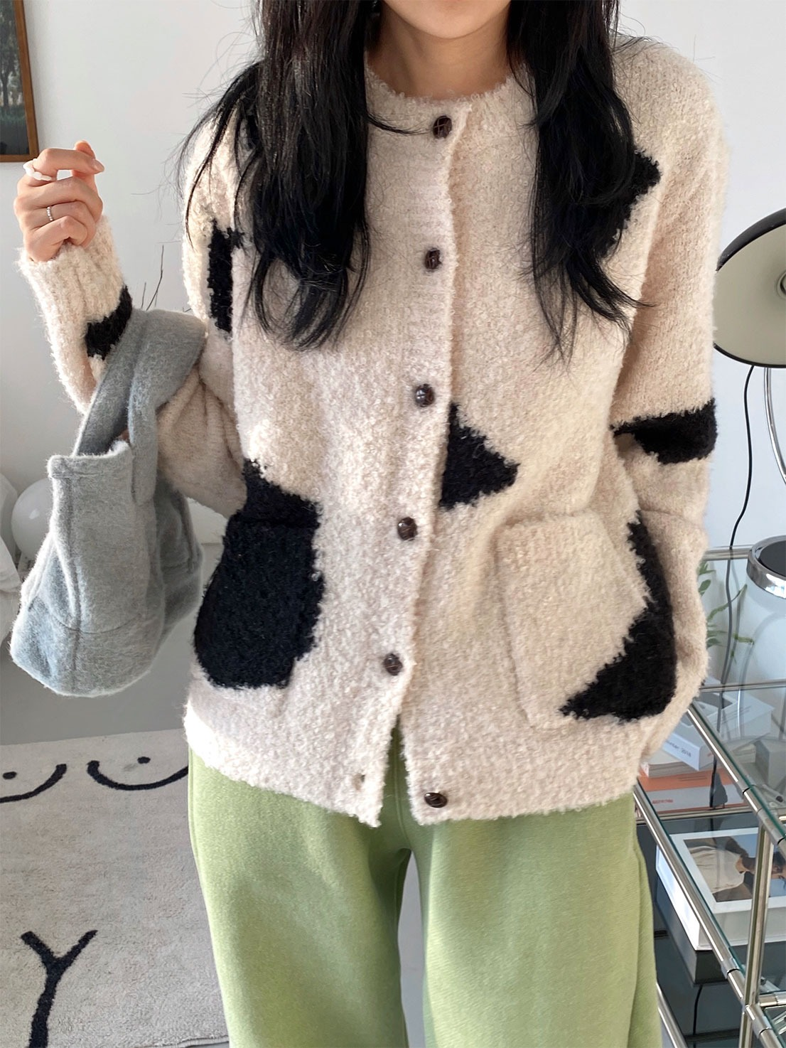 soft milk cardigan
